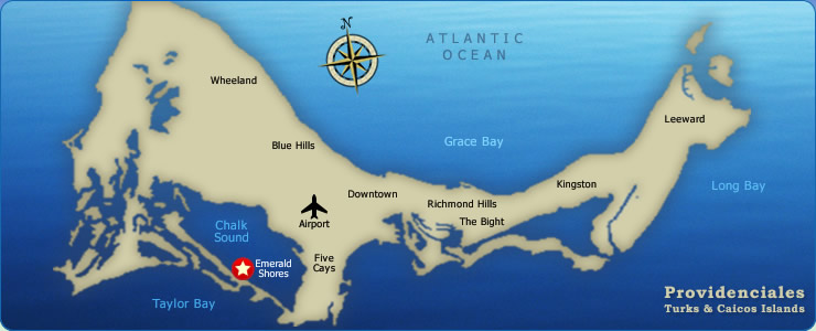 Map of Turks and Caicos - Providenciales
