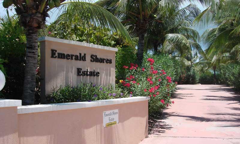 Turks and Caicos Vacation Rentals - Emerald Shores Property Entrance