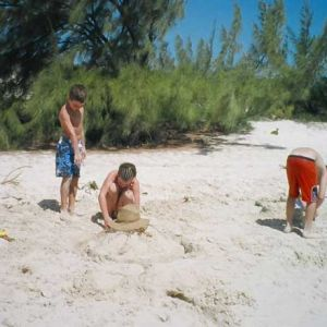 Children-playing-in-the-sand-at-Taylor-Bay-Beach